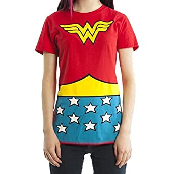 WONDER WOMEN JUNIORS COSTUME TEE (Small)