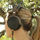 GOgroove AudioLUX WDX Hi-Fi Over-Ear Custom Headphones - Premium Acoustic Sound Comfortable Fit Headband Supprt & Hemp Carrying Bag - Works with Apple iPhone 5S Samsung Galaxy S5 Prime Note 3 HTC One M8 and More!