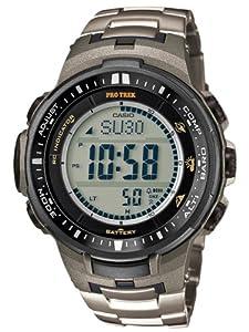Casio Herren-Armbanduhr XL Pro Trek Digital Quarz Titan PRW-3000T-7ER