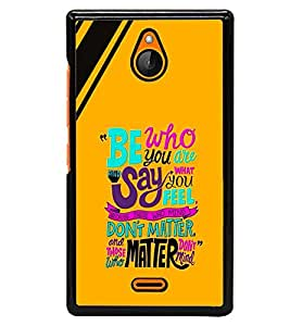 printtech Matter Quote Back Case Cover for Nokia X2 Dual SIM , Nokia X2 RM-1013 , Nokia X2DS