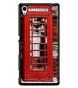 Printvisa Vintage Telephone Booth Pic Back Case Cover for Sony Xperia Z4::Sony Xperia Z4 E6553