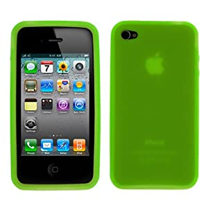 GTMax Dark Green Soft Rubber Silicone Skin Cover Case for Apple iPhone 4 4G 16GB / 32GB 4th Generation