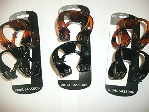 Vidal Sassoon 2 Piece Omega Claw Clips, Large by Vidal Sassoon (Vidal Sassoon Omega compare prices)