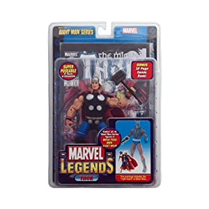 Marvel Legends Exclusive Series Action Figure Thor with Giant Man Builder Piece