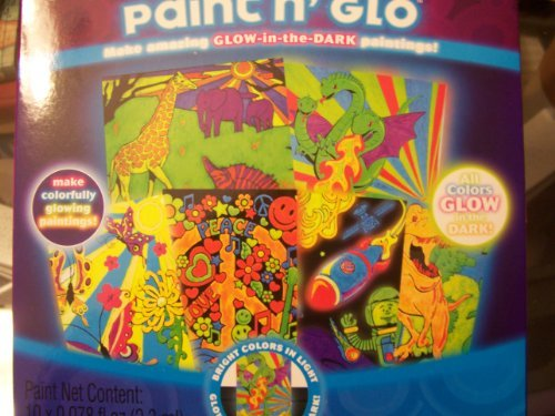 Color Glo Paint n' Glo ~ Glow-in-the-Dark Paintings - 1