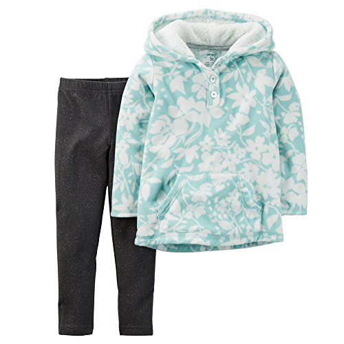 Carter's Girl Fleece Pullover Hoodie and Leggings; Turquoise (18 Months )
