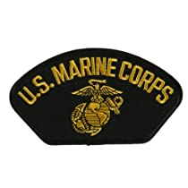 US Marine Fan Shape Large Patch - Black Corps OSFM