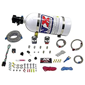 Nitrous Express 20920-10 35-150 HP EFI Single Nozzle System with 10 lbs. Bottle for GM