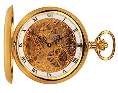 Royal London Pocket Watch 90016-02 Gold Plated Full Hunter