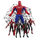 The Amazing Spiderman Super Hero, Set Of 5 Action Figures - Smart Toys For Kids