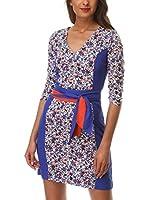 Almatrichi Vestido Lucrecia (Multicolor / Azul)