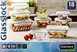 Tempered Glasslock Storage Containers 18pc set: Microwave & Oven Safe