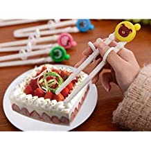 Alcoa Prime Training Chopsticks Helper Kids Children Lovely Cute Safety Cartoon Practicability Flatware Tablewar