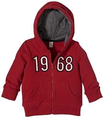 Esprit - sweat-shirt  capuche - bb garon - Rouge -3 mois