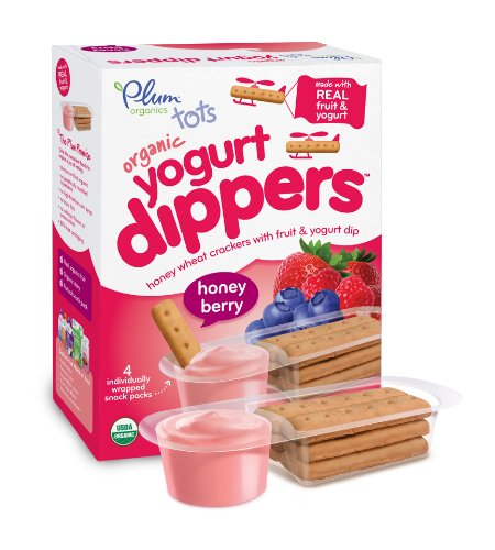 Plum Organics Tots Yogurt Dippers, Honey Berry, 4 Count (Pack Of 6) front-59549