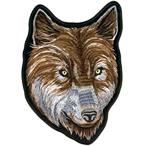 "Hot Leathers Wolf Face Biker Patch (2"" Width x 3"" Height)"