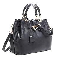 Fineplus Women's Designer Handbags Genuine Leather Lock Shoulder Bags For Women