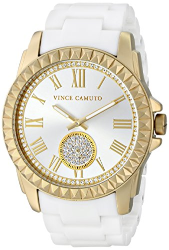 Vince Camuto VC/5190GPWT - Reloj para mujeres, correa de cerámica color blanco