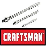 Craftsman 3 pc piece flex handle breaker bar set 1/4