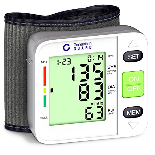 Clinical Automatic Blood Pressure Monitor FDA Approved by Generation Guard with Large Screen Display Portable Case Irregular Heartbeat BP and Adjustable Wrist Cuff Perfect for Health Monitoring (Blood Pressure Monitoring Machine compare prices)
