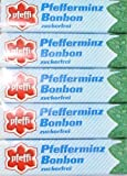 Pfeffi zuckerfrei - Pfefferminzbonbon der Marke Pfeffi - 5 Stangen je 10g