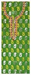 Astha Boutique Women's Synthetic Kurta Fabric (Green)