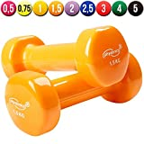Physionics� HSTA25 Vinyl Dumbbells COLOUR CHOICE AND CHOICE OF WEIGHT (Orange)by Physionics�