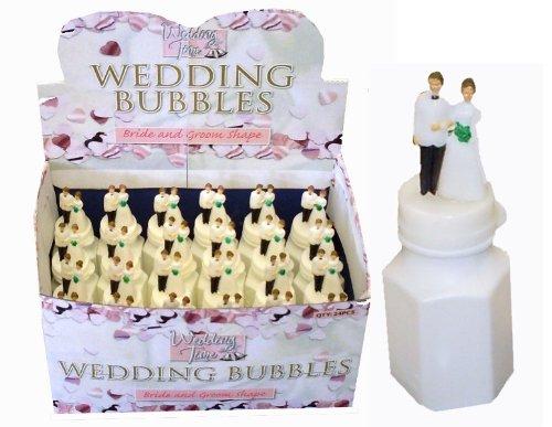 Pour gâteau de mariage marié et mariée & sur le tube en forme de bulle 24/Paquet