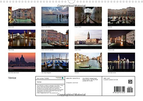 Venice (Wall Calendar 2016 DIN A3 Landscape): Venice never loses its capacity to enchant with its canals and palaces. (Monthly calendar, 14 pages) (Calvendo Places)