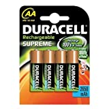Duracell Supreme AA 2650mAh Pack of 4by Duracell