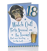 Age 18 Party Animals Birthday Card