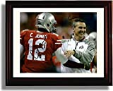 Framed Ohio State National Championship Autograph Print - Coach Meyer, Cardale Jones