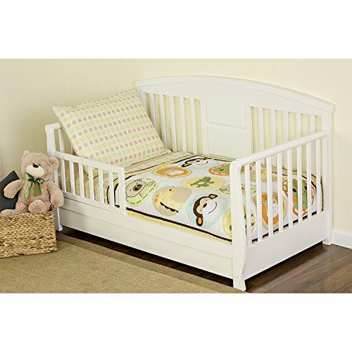 Dream On Me 4 Piece Toddler Bedding Set, Animal Kingdom