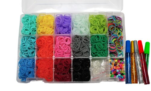 Loom Mini Collection/Storage Kit Includes Over 4000 Bands And 100 C Clips
