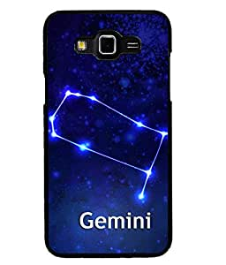 Fuson 2D Printed Sunsign Gemini Designer back case cover for SAMSUNG GALAXY GRAND MAX G720 - D4470