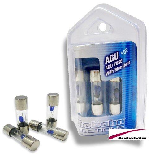 Agu10B - Audiobahn 4 Pieces Agu 10 Amp Fuse Pack With Blown Fuse Blue Lamp Indicator