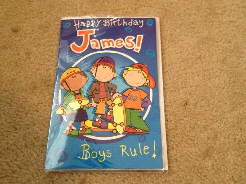 Happy Birthday James - Singing Birthday Card