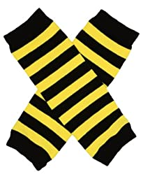 juDanzy Newborn Baby Leg Warmers (Newborn-15 Pounds)(Newborn Bee Stripe)