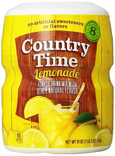 Country Time Lemonade Drink Mix, 19 Oz, Makes 8 Qt, 2 Pk