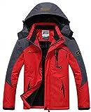 WantDo Mens Waterproof Mountain Jacket Fleece Windproof Ski Jacket