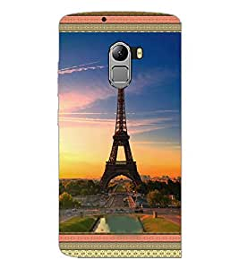 PrintDhaba Tower D-3590 Back Case Cover for LENOVO K4 NOTE A7010a48 (Multi-Coloured)