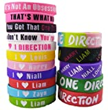 16pcs 1d Bracelet Lot POP Band Silicon Wristband