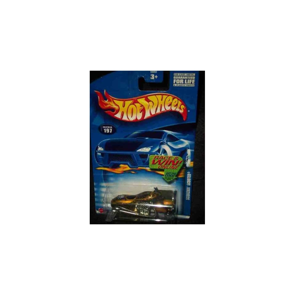 #2002 197 Scorchin Scooter Race/Win Card Collectible Collector Car Mattel Hot Wheels