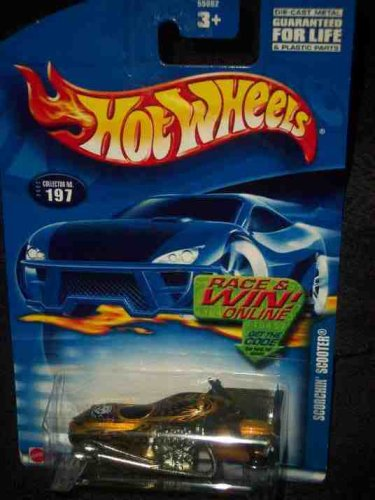#2002-197 Scorchin' Scooter Race/Win Card Collectible Collector Car Mattel Hot Wheels