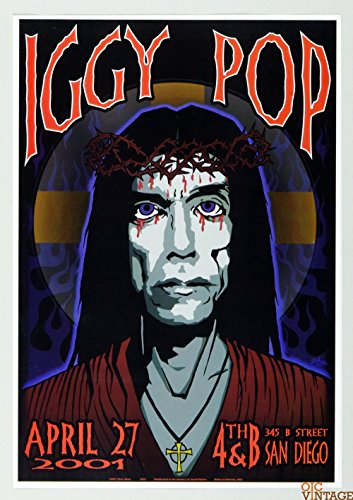 Iggy Pop Poster 2001 Apr 27 San Diego by Chuck Sperry (Iggy Concert Tickets compare prices)