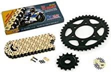 buy 2012 Kawasaki Ninja 1000 Zx1000 Cz Sdz Gold X Ring Chain & Sprocket 15/41 122L