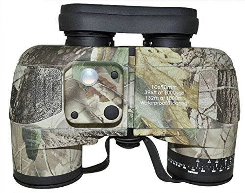 Noga 10X50 Navy Maple Leaf Camouflage Binoculars With Rangefinder And Compass Reticle Illuminant
