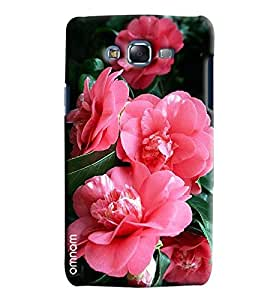 Omnam Pink Roses Effect Printed Designer Back Cover Case For Samsung Galaxy J5