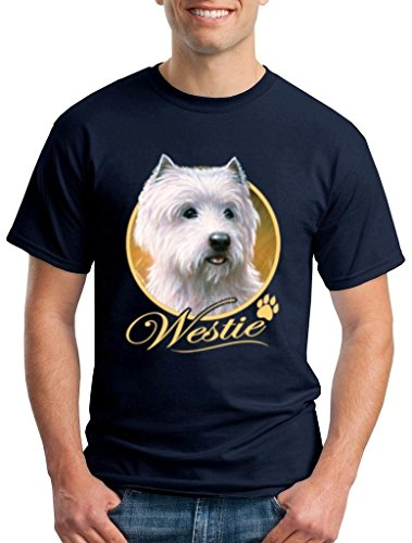 Westie Dog T-shirt Animal Lovers Shirts Small Navy 13232