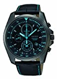 Seiko Men's Quartz Watch Chronograph SNDD71P1 with Leather Strap